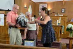11 They also received a basket of Warkworth stuff from Micaela Quibell on behalf of the Sunday School